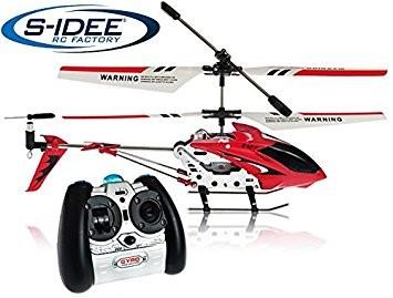 s-idee® 19103 | S107G rot 3.5 Kanal Heli Syma Hubschrauber RC ferngesteuerter Hubschrauber/Helikopte